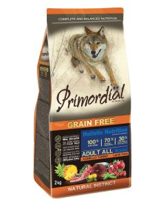 Primordial Pet Food PGF Adult Tuna & Lamb 12kg + Pochoutka 250g ZDARMA