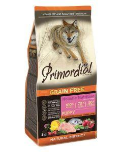 Primordial Pet Food PGF Puppy Chicken & Sea Fish 12kg + Pochoutka 250g ZDARMA