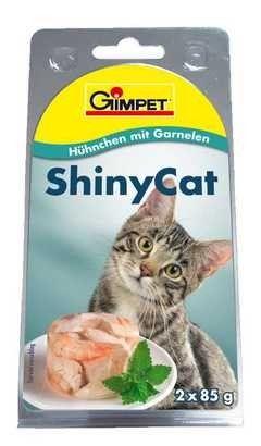 Konzerva SHINY CAT - kuře a krevety 2x70g