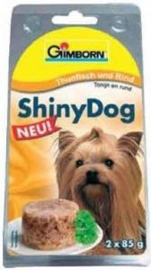 SHINY DOG - tuňák a hovězí 2x85g