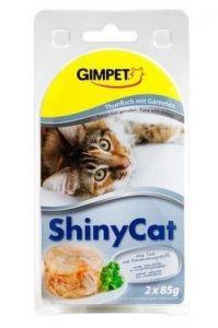 SHINY CAT Tuňák+krevety 2x70gr