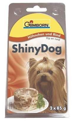 SHINY DOG - kuře a hovězí 2x85g