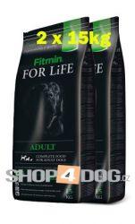 Fitmin Dog FOR LiFE adult 2x15kg + Perfecto Dog plátky  (20ks/200g)