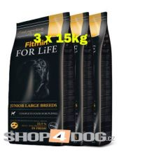 Fitmin Dog FOR LiFE junior large 3x15kg + Perfecto Dog Masové plátky (20ks/200g) ZDARMA