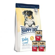 Happy Dog Baby Grainfree 3x10kg + KONZERVY 3x400g ZDARMA