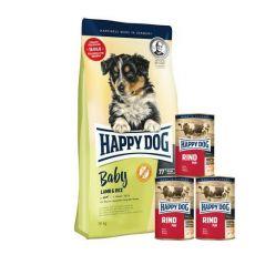 Happy Dog Baby Lamb & Rice 10kg + KONZERVY 3x400g ZDARMA