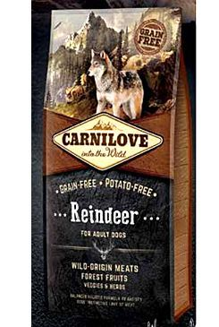 Carnilove Dog Reindeer for Adult NEW 12kg VAFO Carnilove Praha s.r.o.