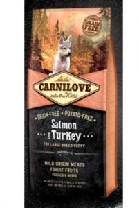 Carnilove Dog Salmon & Turkey for LB Puppies NEW 12kg